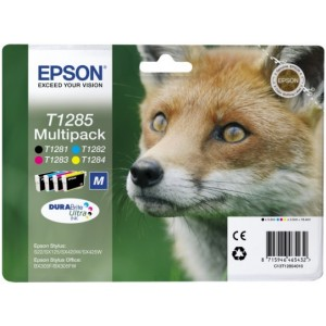 PacK epson volpe con chip 1281-1282-1283-1284 COMPATIBILE
