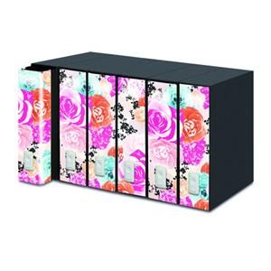 REGISTRATORE NEW DOX 2 50° Floral Edition DORSO 8CM F.TO PROTOCOLLO