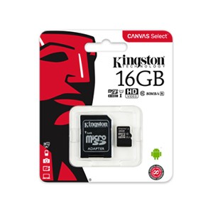 KINGSTON TECHNOLOGY CANVAS SELECT 16GB MICROSD UHS-I CLASSE 10