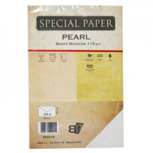 Buste Pearl bianco 110gr 17x17 ex Glamour Q-paper