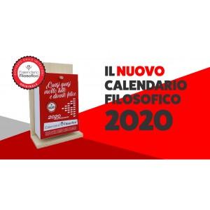 CALENDARIO FILOSOFICO 2020 CON SUPPORTO IN LEGNO 10X14