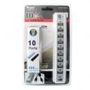 HUB USB 2.0 10 PORTE CON ALIMENTATORE