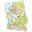CARTINA GEOGRAFICA FISICO  POLITICA 29,7X42 EUROPA
