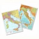 CARTINA GEOGRAFICA FISICO  POLITICA 29,7X42 ITALIA