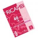 RICAMBIO COLORATO A4 GR.80 1R ROSA
