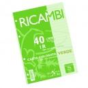 RICAMBIO COLORATO A4 GR.80 1R VERDE