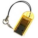 LETTORE USB PER MICRO SD IN BLISTER COLORI VARI