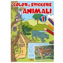 ALBUM COLOR E STICKERS ANIMALI 603119