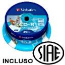 CD-R 80 MIN. 700 MB VERBATIM  PZ.25