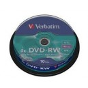VERBATIM DVD+RW 4x 4.7GB REWRITABLE BLANK DVD 120M.PZ. 25