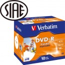 DVD-R 16X VERBATIM PRINTABLE 4.7 GB PZ.25