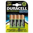 BLISTER 4 PILE RICARICABILI AA - STILO 2400mAh DURACELL PRECHARGED