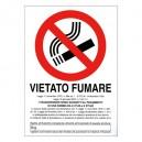 CARTELLO VIETATO FUMARE BIANCO A4