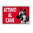 CARTELLO PLASTICA 30X20CM 'ATTENTI AL CANE'