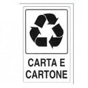 CARTELLO ALLUMINIO 30X20CM CARTA E CARTONE