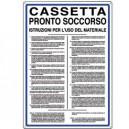 """CARTELLO 50x35cm """"CASSETTA P.SOCCORSO ISTR. USO"""" IN ALLUMINIO BIANCO"""