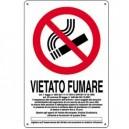 CARTELLO PLASTICA 30X20CM VIETATO FUMARE