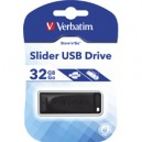 PENDRIVE 32 GB VERBATIM SLIDER USB 2.0