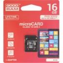 MICRO SD 16GB GOODRAM CLASSE 10 UHS I + ADATTATORE
